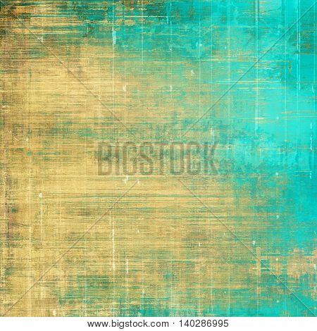 Abstract grunge weathered background of vintage texture. With different color patterns: yellow (beige); brown; gray; green; blue; cyan