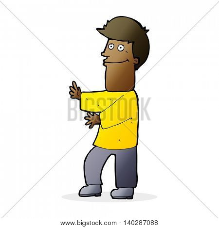 cartoon man gesturing