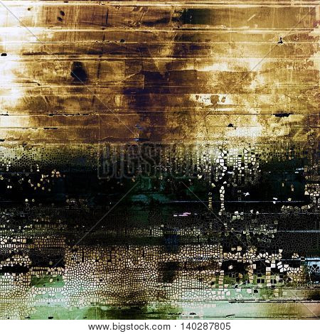 Old crumpled grunge background or ancient texture. With different color patterns: yellow (beige); brown; gray; black; green; blue