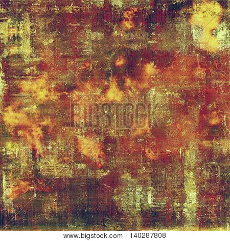 Old school background or texture with vintage style grunge elements and different color patterns: yellow (beige); brown; red (orange); purple (violet); pink