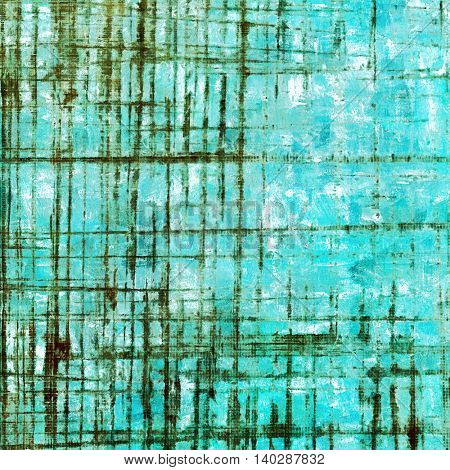 Rough textured backdrop, abstract vintage background with different color patterns: brown; green; blue; cyan; white