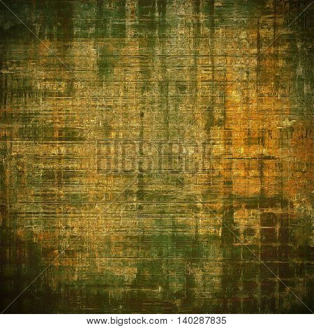 Vintage aged texture, old scratched background. With different color patterns: yellow (beige); brown; gray; green