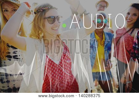 Audio Listening Noise Sound Wave Technology Concept