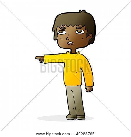 cartoon boy pointing