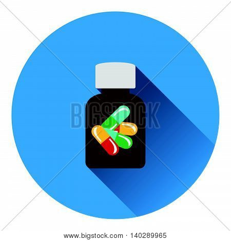 Pills Bottle Icon