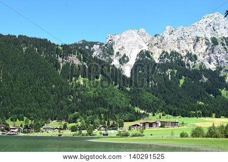 wonderful Austrian Alps in a sunny day