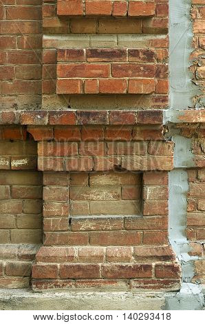 OId brick wall texture with aging effects