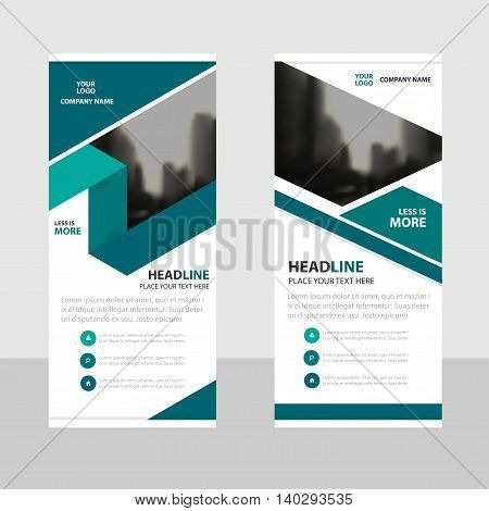 Green label Business Roll Up Banner flat design template Abstract Geometric banner template Vector illustration set abstract presentation brochure flyer template vertical template vector