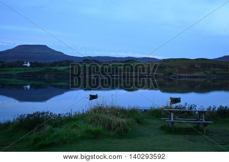 Pretty view of MacLeod's Tables with Loch Dunvegan.
