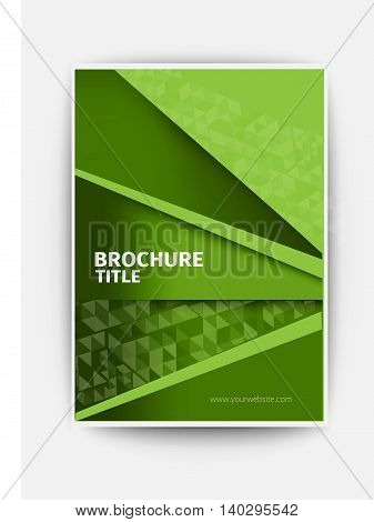 green business brochure blue Modern Vector abstract brochure / book / flyer design template flyer design layout template in A4 size, vector eps10.