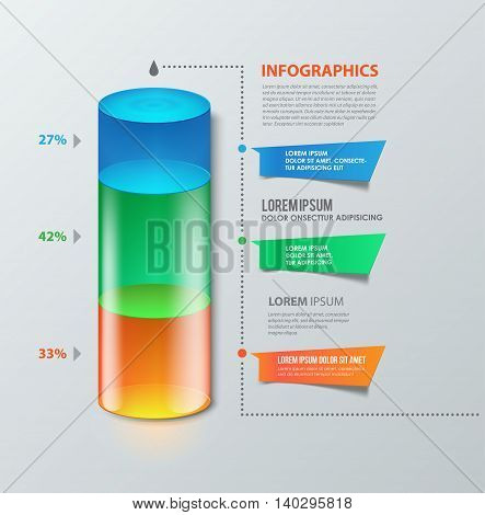 Column like diagram can be used for infographics websites elements presentations comparison.