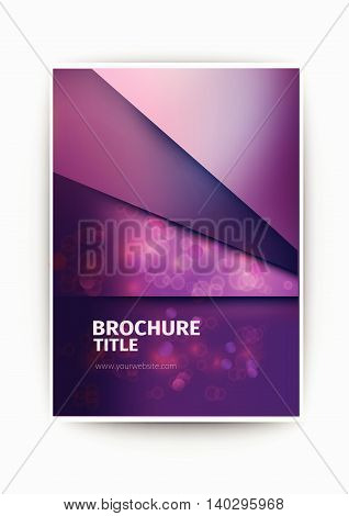 purple Modern Vector abstract blurry brochure / book / flyer design template business brochure flyer design layout template in A4 size, with blur purple background, vector eps10.