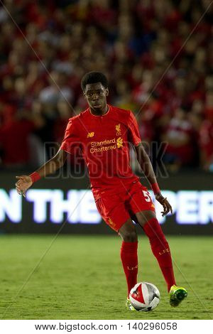 PASADENA, CA - JUNE 4: Ovie Ejaria during the 2016 ICC game between Chelsea & Liverpool on July 27th 2016 at the Rose Bowl in Pasadena, Ca.