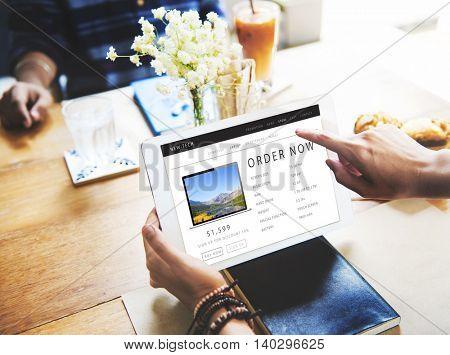 Order Now Shopping Online Internet Website Concept