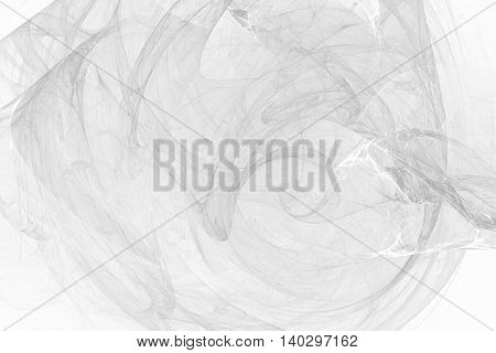 Light black and white fractal for background or wallpaper