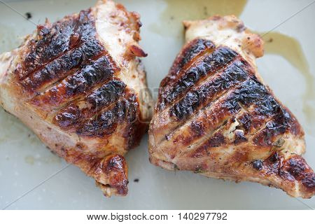 Two Grilled Chicken Thighs