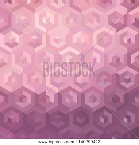 Pink Isometric Background Illustration