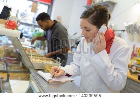 taking phone order