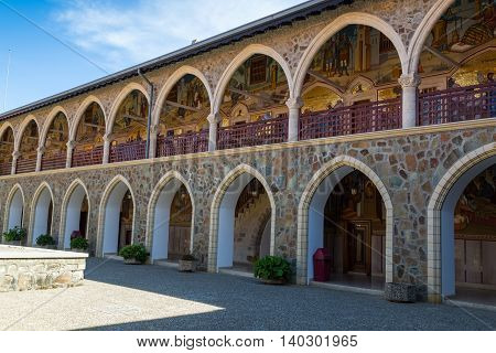 Holy Monastery of the Virgin of Kykkos. Cyprus. Courtyard