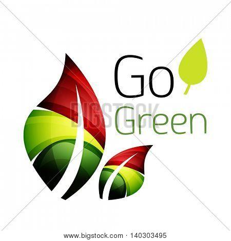 Abstract leaf icon. illustration
