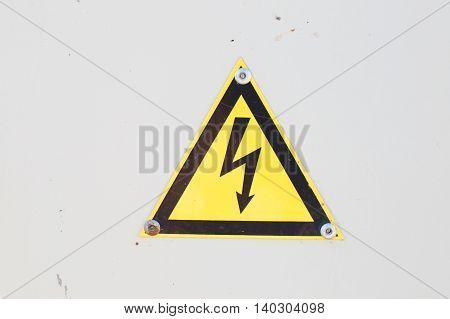 High Voltage Sign. Danger Symbol. Warning Icon