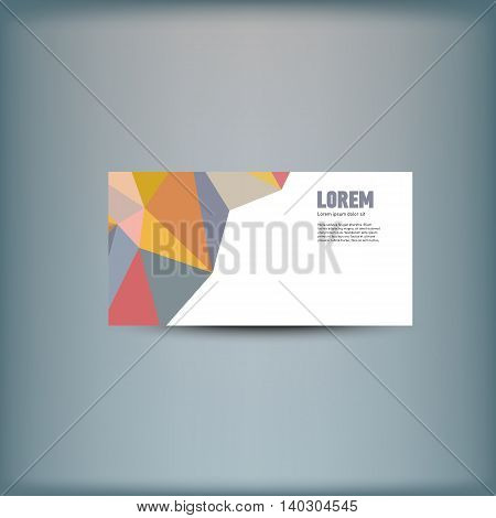 Template for advertising and corporate identity. Banner design. Blank mockup for design. Vector white object
