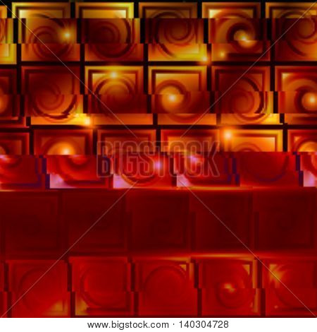 Brown background with light effects in style glitch- art. Vector illustration.