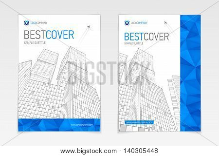 Cover booklet booklet business and architecture, modern design, vector sample design