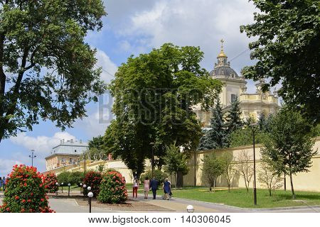 Beautiful, kind of old Saint George Church in Lviv.
