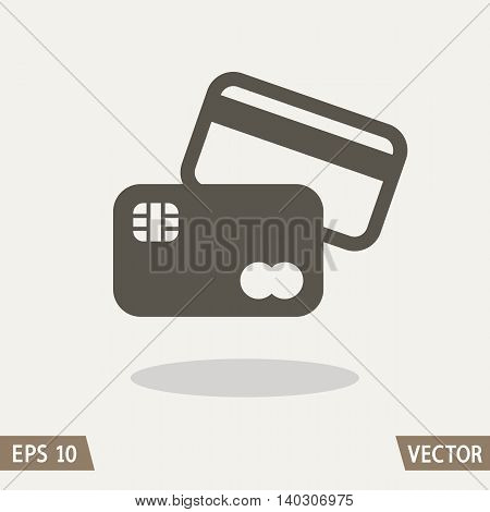 Credit Card Icon. Vector illustration for web and commercial use.