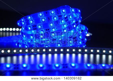 Blue And White Led Stripe