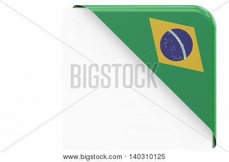 Brazilian corner button. 3D rendering isolated on white background