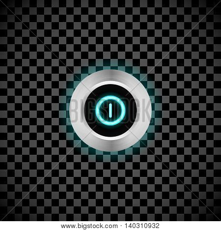 Vector realistic led switch button with background