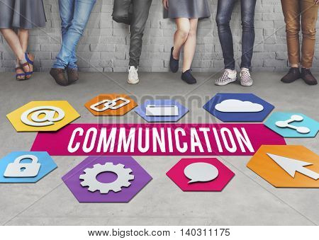 Communication Creative People Layout Graphic Concept