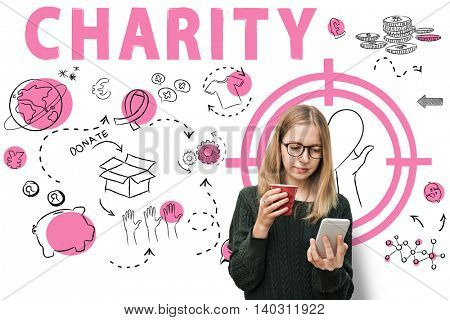 Charity Aid Donation Awareness Concept