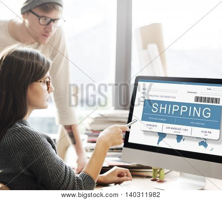 Logistics Delivery Cargo Freight Shipment Concept
