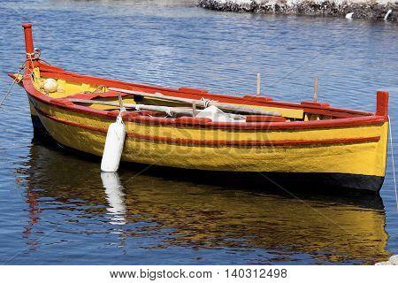 Empty Fishing Rowboat