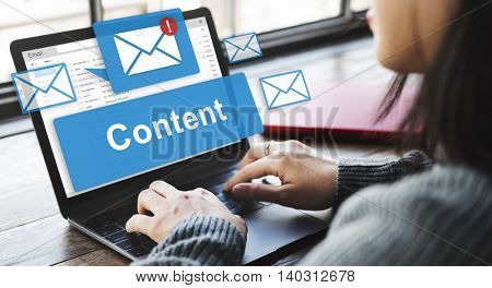 Content Blogging Data Internet Media Sharing Concept