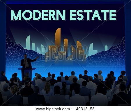 Modern Estate Modernity Skyscraper Building Concept