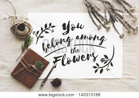 Garden Flower Belong Always Concept