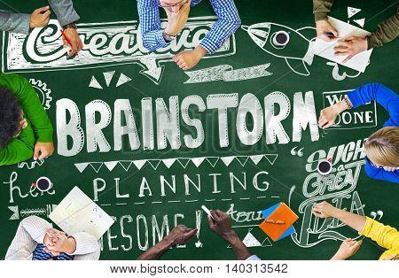 Brainstorm Planning Thinking Analysis Sharing Concept
