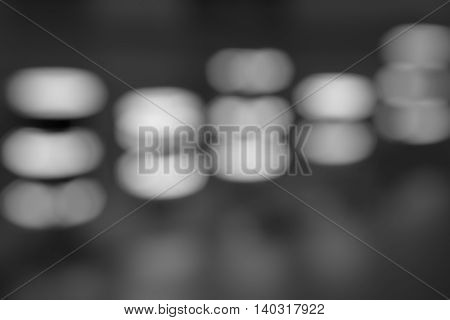dark bokeh abstract soft blurred background black and white tone