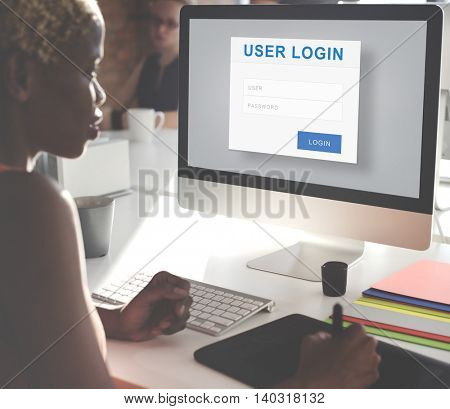 User Login Security Privacy Protection Concept