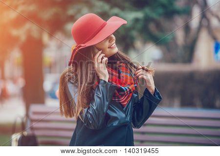 Two pretty girls walking in the city
