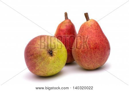 Ripe pears  fresh, food, juicy on a white background