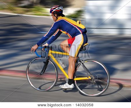 A bicyclist