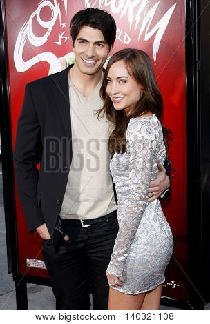 Brandon Routh and Courtney Ford at the Los Angeles premiere of 'Scott Pilgrim vs. The World' held at the Grauman's Chinese Theater in Hollywood, USA on July 27, 2010.