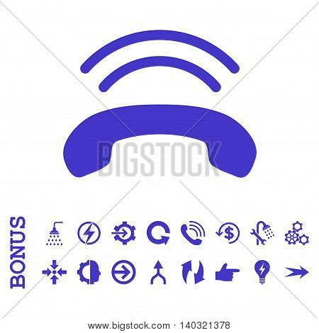Phone Ring glyph icon. Image style is a flat iconic symbol, violet color, white background.