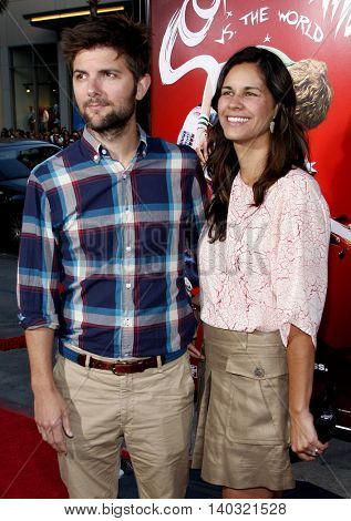 Adam Scott and Naomi Scott at the Los Angeles premiere of 'Scott Pilgrim vs. The World' held at the Grauman's Chinese Theater in Hollywood, USA on July 27, 2010.
