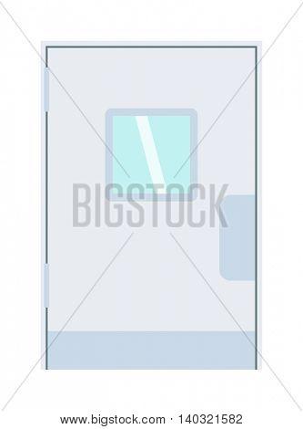 Door isolated vector illustration.